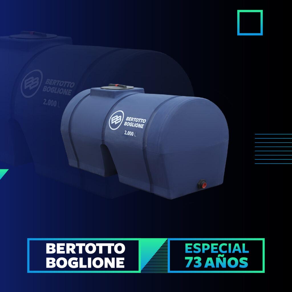 Tanque 2.000 lt. horizontal color azul